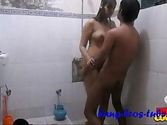Indian amateur couple sonia and sunny hardcore sex in bathroom